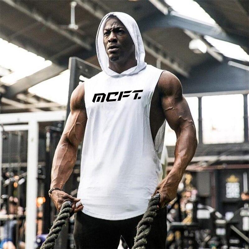 Brand Gym Clothing Bodybuilding Hoodie Sleeveless Shirt Fitness Mens Tank Top Muscle Vest Stringer Undershirt Summer TankTop