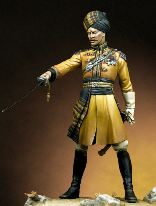 1/24 75mm Ancient Officer Stand (WITH  BASE )     Resin Figure Model Kits Miniature Gk Unassembly Unpainted