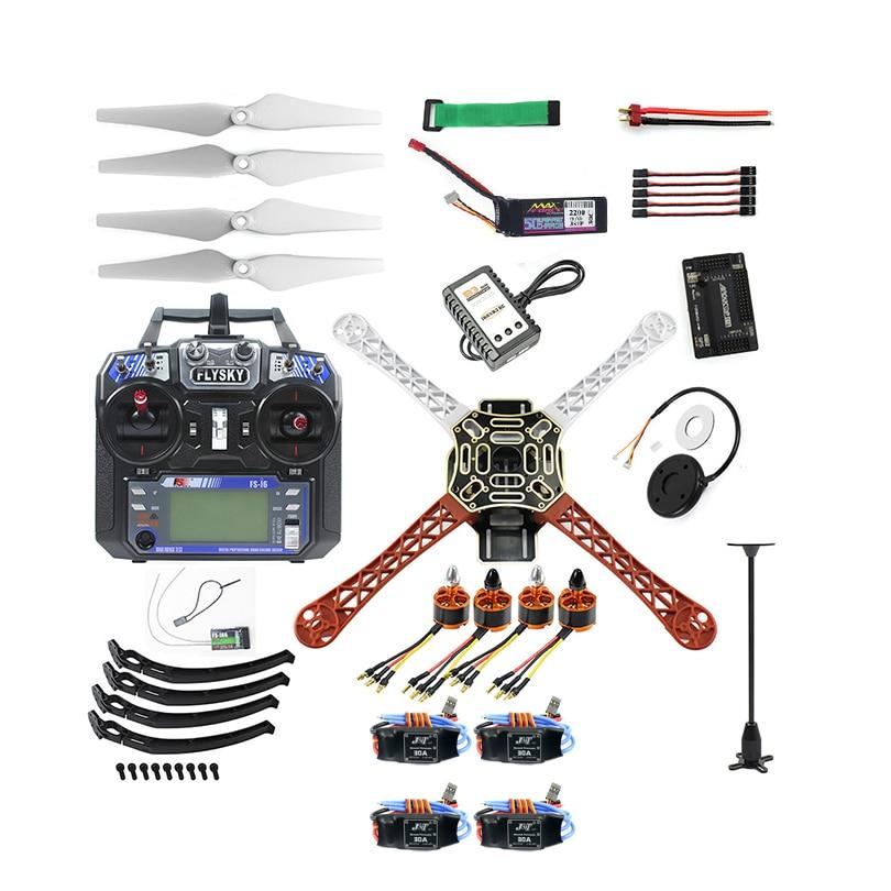 Full Set RC DIY Drone Quadrocopter 4-axle Aircraft Kit F450-V2 Frame GPS APM2.8 Flight Control Flysky FS-i6 Transmitter beginner