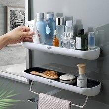 Klebstoff Bad Regal Organizer Wand Montiert Shampoo Gewürze Dusche Storage Rack Halter Bad Zubehör