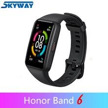 """כבוד להקת 6 חכם צמיד 6 NFC אופציונלי 1.47 """"AMOLED מסך דם חמצן Smartband כושר Tracker Bluetooth 5.0"""