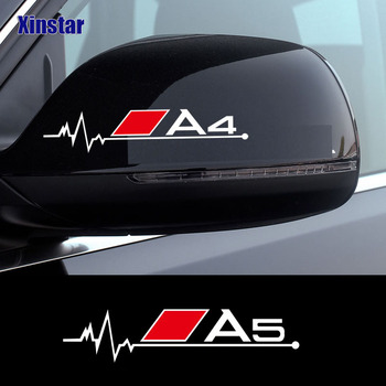 2pcs car rearview mirror sticker for audi sline A3 A4 A5 A6 A7 A8 TT Q3 Q5 Q7 S3 S4 S5 S6 B6 B7 B8 B9 custom car floor mats for audi all models a3 a4 a6 a8 q3 q5 q7 tt
