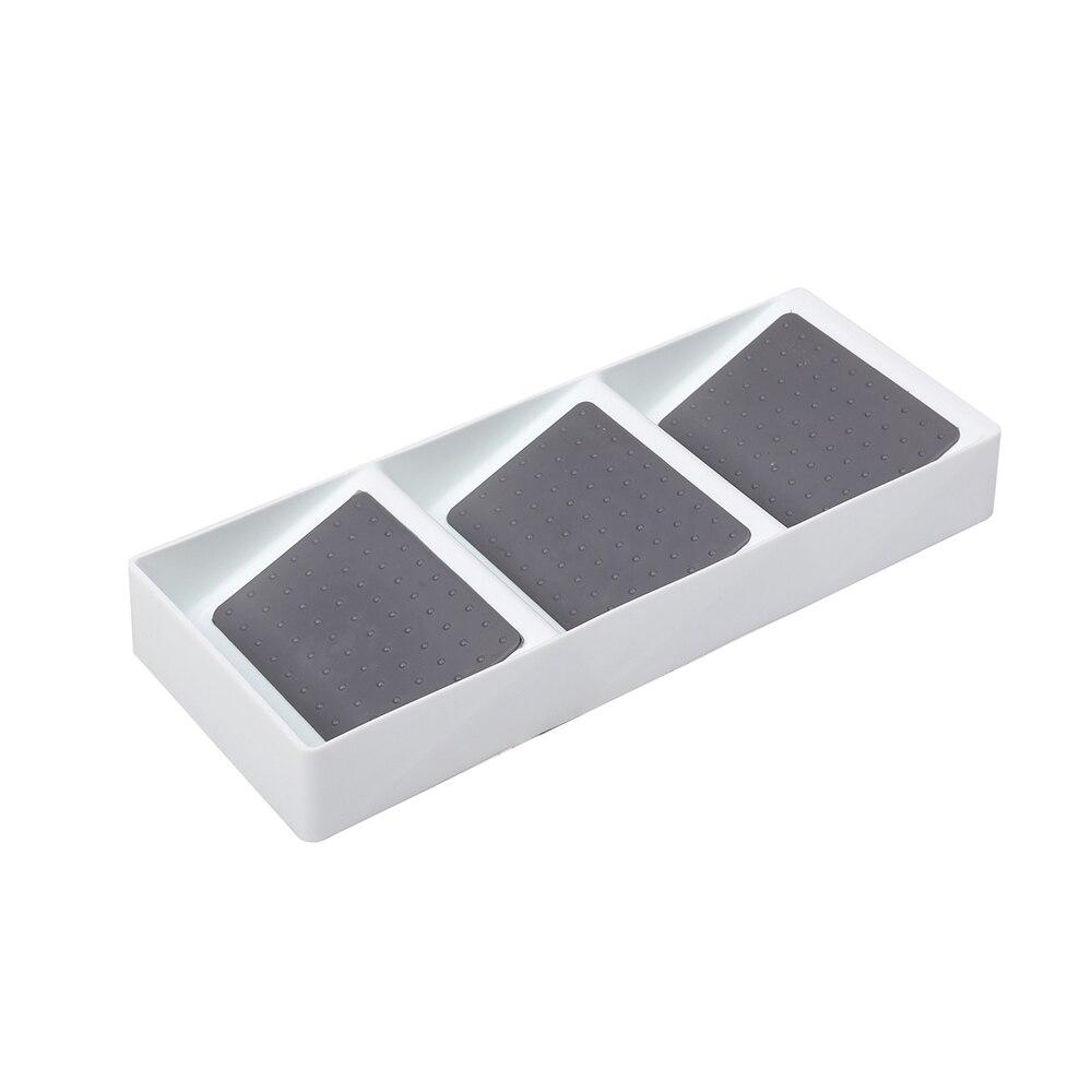 3 Grid Drawer Divider Household Medicine Storage Box Plastic Seasoning Bottle Finishing Box Kitchen Cabinet Organizer