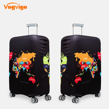 VOGVIGO Luggage Covers Planet Pattern Dustproof Protective Travel Suitcase Cover 18-32 Inch Trolley Bag Case Luggage Accessories suitcase case travel trolley suitcase protective cover for s m l xl 18 32 inch travel accessories luggage cover