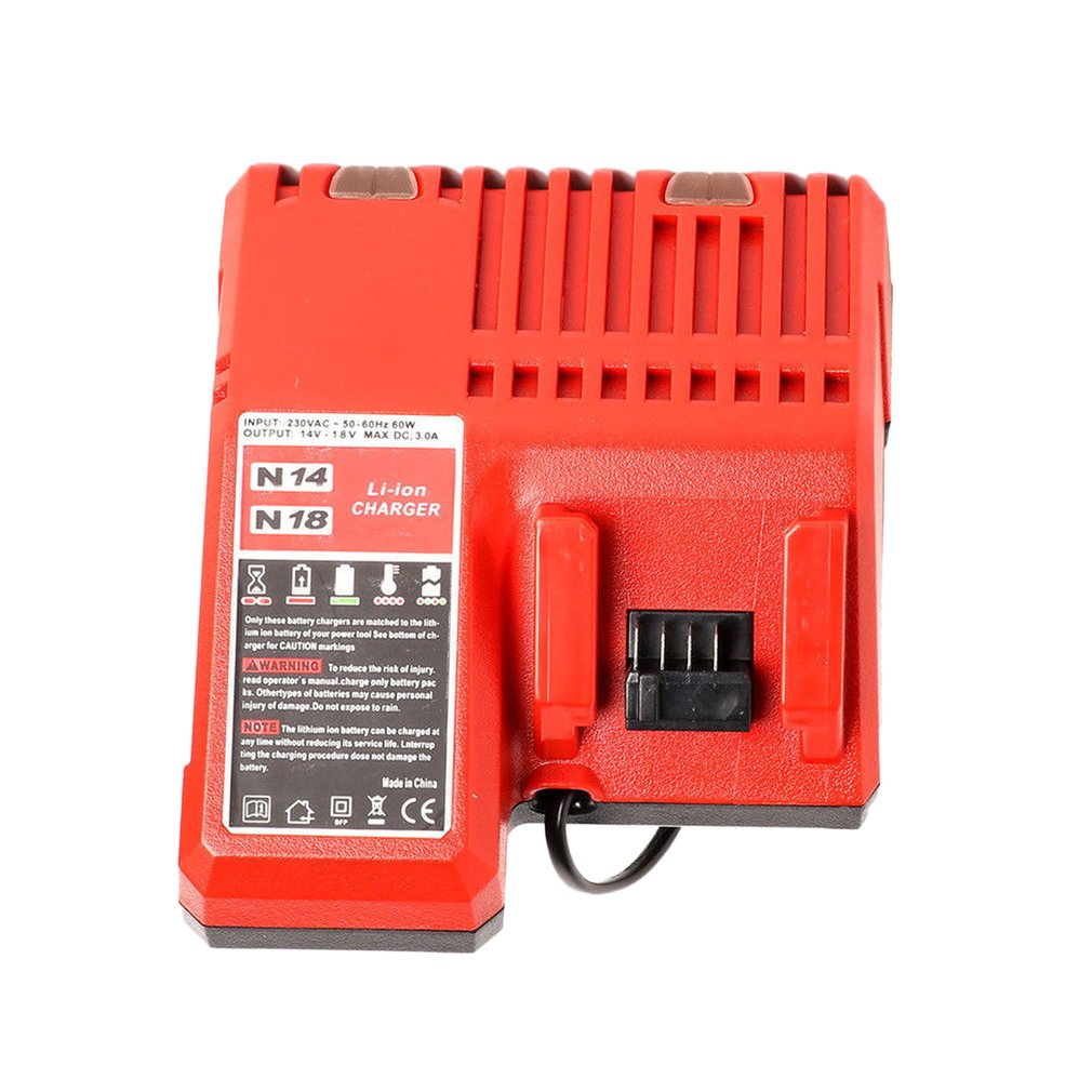 Li-ion Battery Charger 110-240V Fast Lithium Battery Charger For Milwaukee M18 48-11-1815 48-11-1828 48-11-2401 48-11-2402