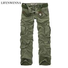 LIFENWENNA, осенние мужские брюки карго, камуфляжные брюки, военные брюки для мужчин, 7 цветов, мужские брюки с карманами