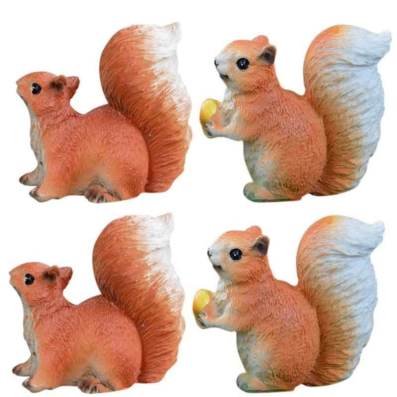 Garden Decoration Small Ornament Simulation Animal Model Artificial Squirrel