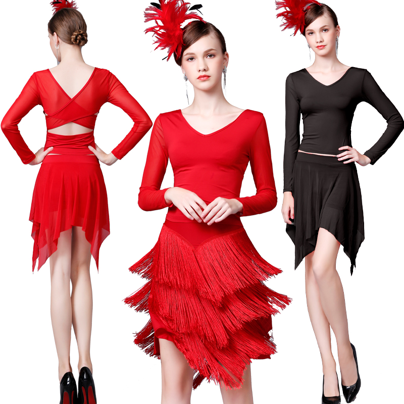 Fashion Latin Dance Costumes Women Tango Salsa Rumba Ballroom Practice Wear Samba Cha Cha Ladies Performance Clothing DC3629