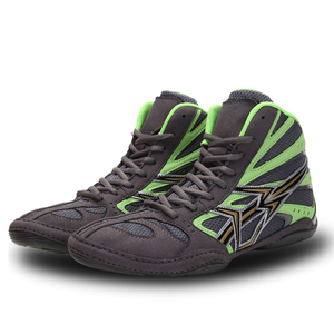 Zapatos de lucha de boxeo, suela de goma, calzado deportivo de combate transpirable, entrenamiento profesional de fitness