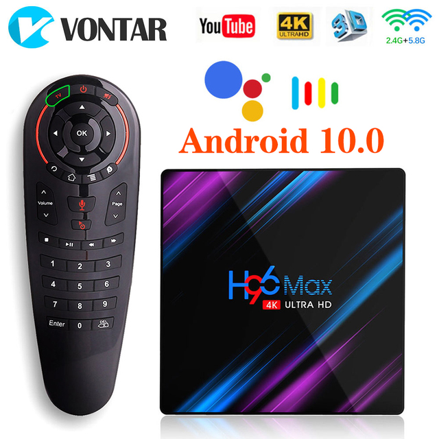 H96 MAX Android 10 Smart TV Box 4GB RAM 32GB RK3318 Media player 4K Google Voice Assistant Youtube H96MAX 9.0 2G 16B Set Top Box