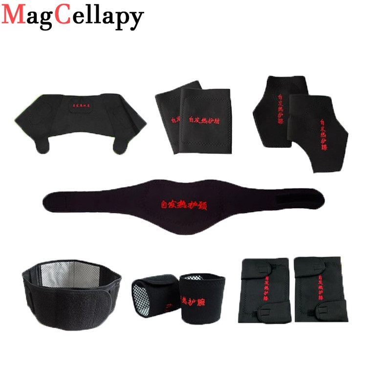 11pcs Self-heating Tourmaline Belt Pad Shoulder Posture Correcter Magnetic Therapy Neck Knee Wrist Elbow Support Brace Massager