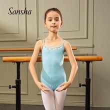 Sansha 2020 nova chegada ballet dança camisola collant com malha de ginástica dancewear alta qualidade algodão 501ai0023c