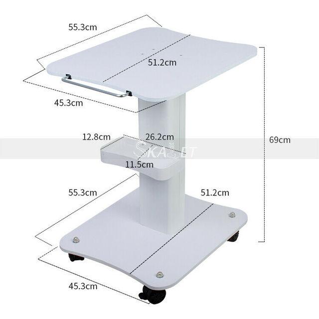 Beauty Salon Trolley Salon Use Pedestal Rolling Cart Wheel Aluminum Stand Personal Care Appliance Parts