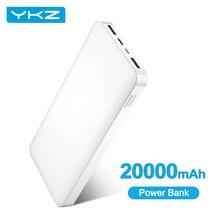 YKZ Type C Power Bank 20000mAh Poverbank Mobile Phone External Battery Charger Portable Charging Powerbank 20000 mAh for Xiaomi