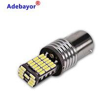 100pcs 1156 1157 CANBUS לא שגיאת p21w BA15S 4014 led 45 SMD רכב זנב הנורה בלם אור אוטומטי גיבוי הפוך מנורת DC12V