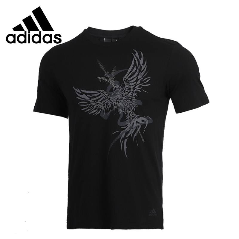 Original New Arrival Adidas  M WJ GFX T STOR Men's T-shirts short sleeve Sportswear