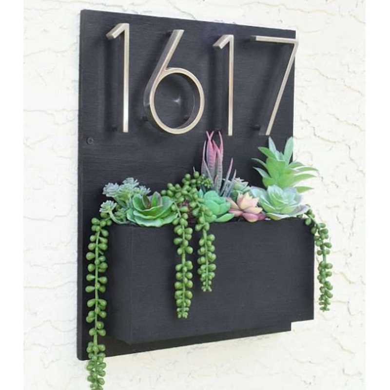 5 In Satin Nicke Modern House Number Hotel Home Door Number Outdoor Address Plaque Zinc Alloy Number For House Address Sign #0-9