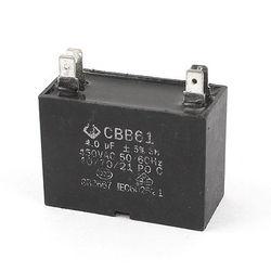 Kondensator wentylatora CBB61 4uf 450V 4 Terminal 50/60 HZ Zaciski    -