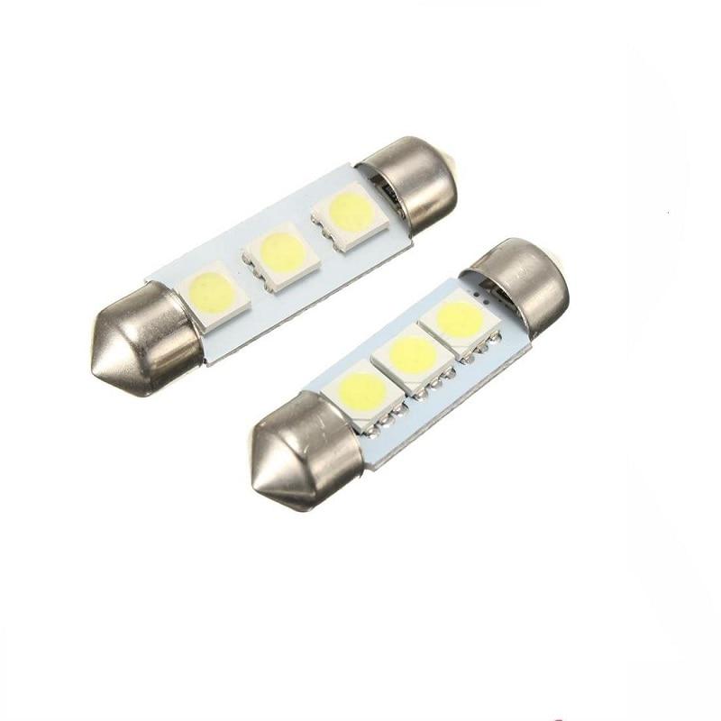 White Led C5W 5050 3 Smd 3Smd 31mm 36mm 39mm 41mm Dc 12V Festoon Interior Dome Door Light Free Light Lamp Turn Signal Bulb