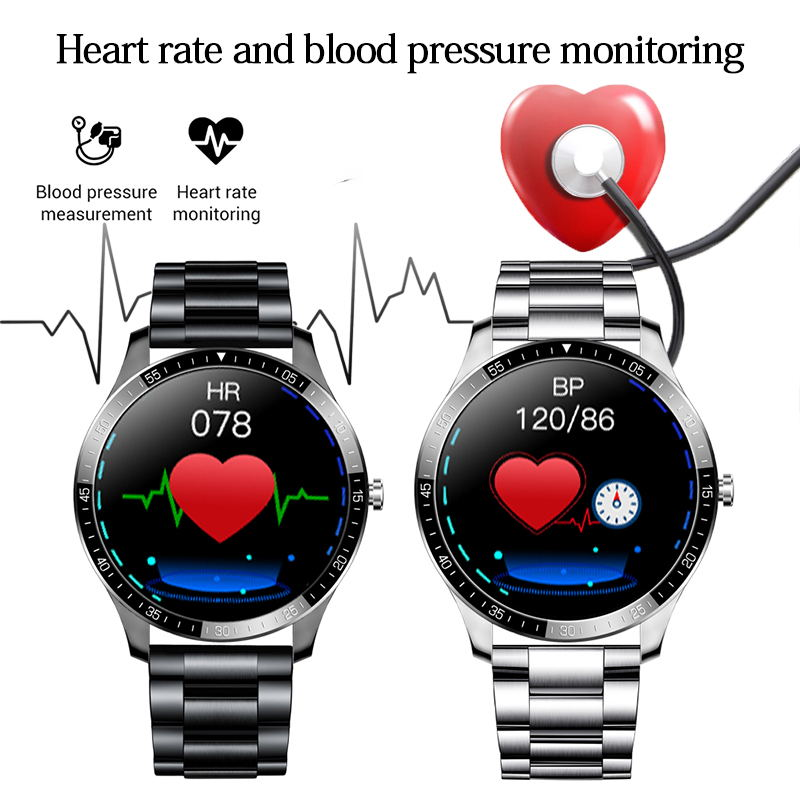 """LIGE New Smart watch Men waterproof 1.3"""" Full touch screen Sports Smart watch heart rate Fitness tracker Men Smart Watch Women 3"""
