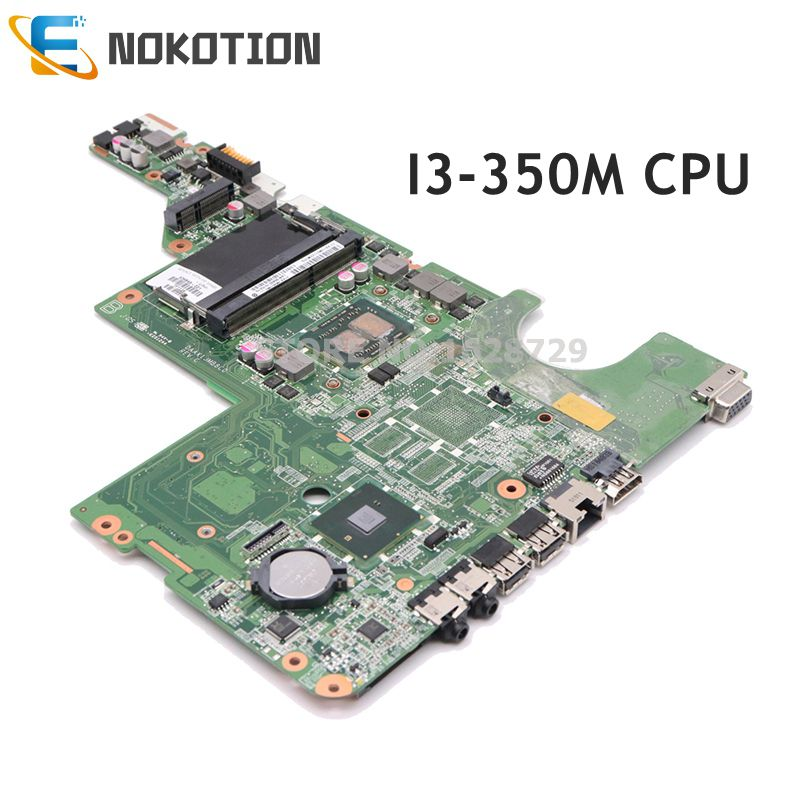 NOKOTION 634648-001 DAAX1JMB8C0 Main Board For HP Compaq G62 CQ62 Laptop Motherboard I3-350M CPU DDR3 HM55 WORKS