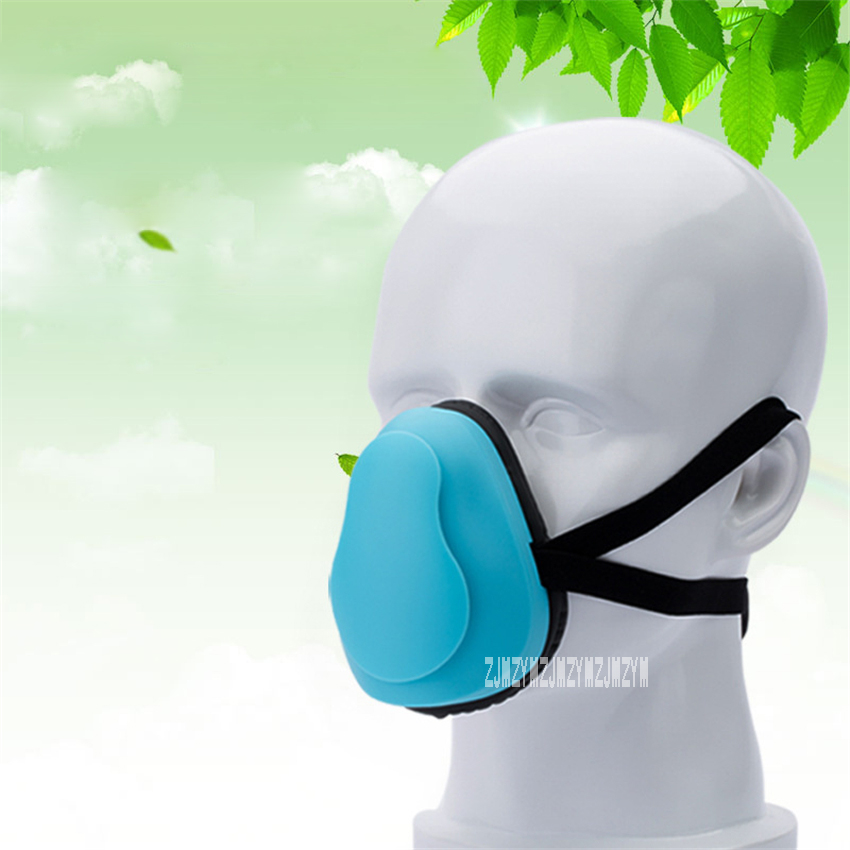 ZS-161209 Intelligent Electronic Protective Mask Industrial Air Purifier Anti-dust Mask USB Outdoor Anti-fog Mouth Mask Unisex