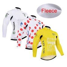 3 kolory klasyczny styl zimowy termiczny polar ciepły kolarstwo Jersey Ropa Ciclismo z długim rękawem górska droga odzież rowerowa XXXS 6XL