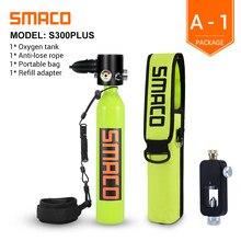 SMACO 4pcs Mini Diving Oxygen Tank Snorkeling Respirator 0.5L Scuba Spare Dive Breath Underwater Portable Scuba Diving Equipment
