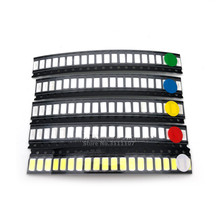 100PCS/LOT Super Bright 3528 1210 SMD LED Red/Green/Blue/Yellow/White 20pcs Each LED Diode 3.5*2.8*1.9mm 3528 R/G/B/W/Y 5 Values