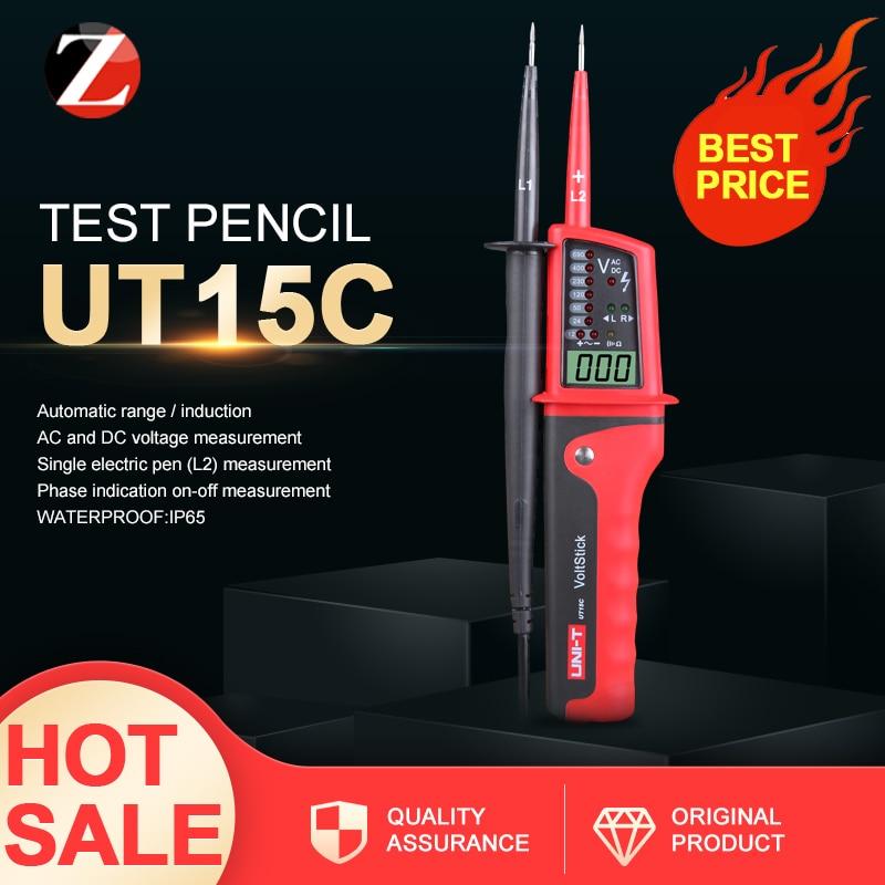 UNI-T UT15C водонепроницаемые цифровые измерители напряжения ручка светодиодный вольтметр переменного/постоянного тока индикатор автоматичес...
