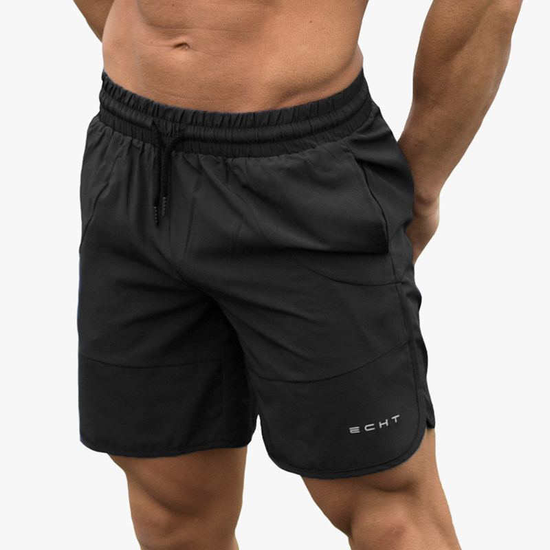 Shorts Bodybuilding Joggers Quick-Dry Fitness Cool Loose Male Beach Casual Summer Brand