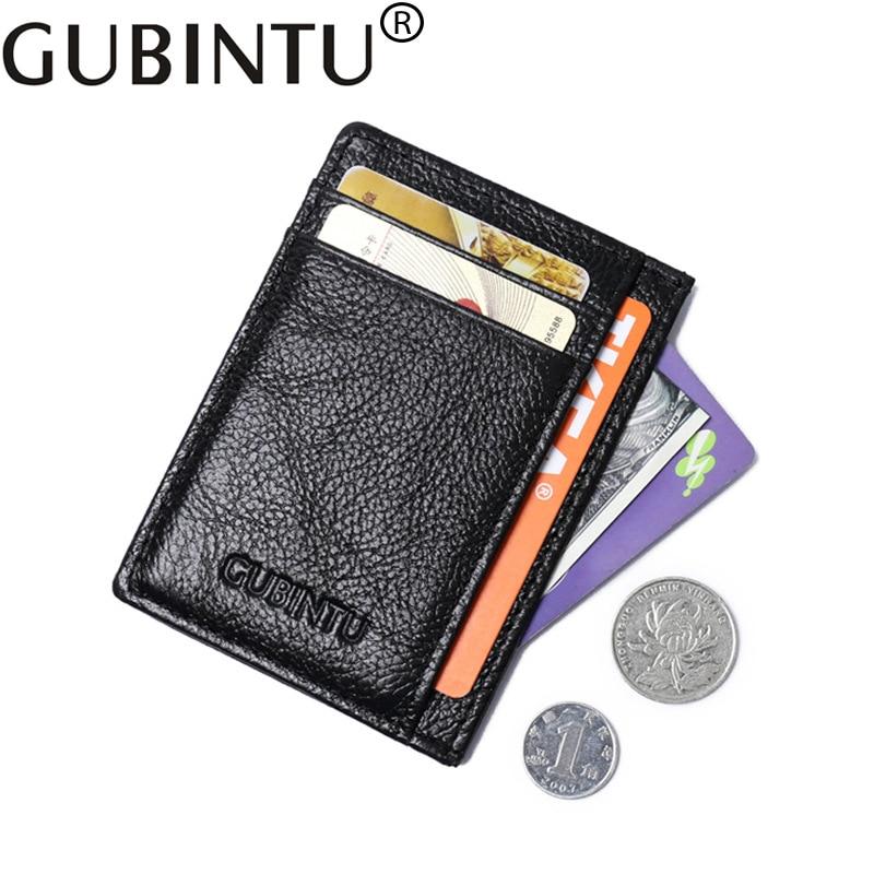 Small Genuine Leather Women Men Wallet Female Male Purse Slim Mini Walet Business Card Cuzdan For Holder Thin Vallet Money Bag