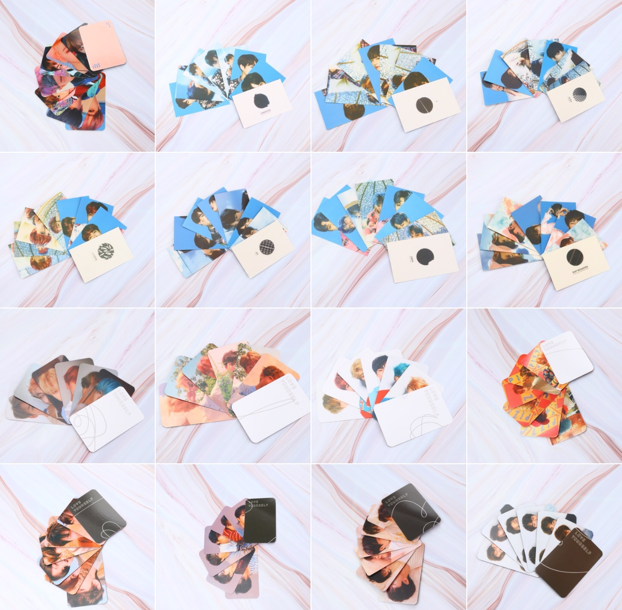 Lomo-Card Stationery Supplie Paper Bomb Gift Photo Cherry Bantan Boys KPOP 10pcs Fan
