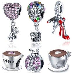925 Sterling Silver Pandora Beads Charms Original fit Pandora Bangles &Bangles Women Fashion DIY Jewelry Make