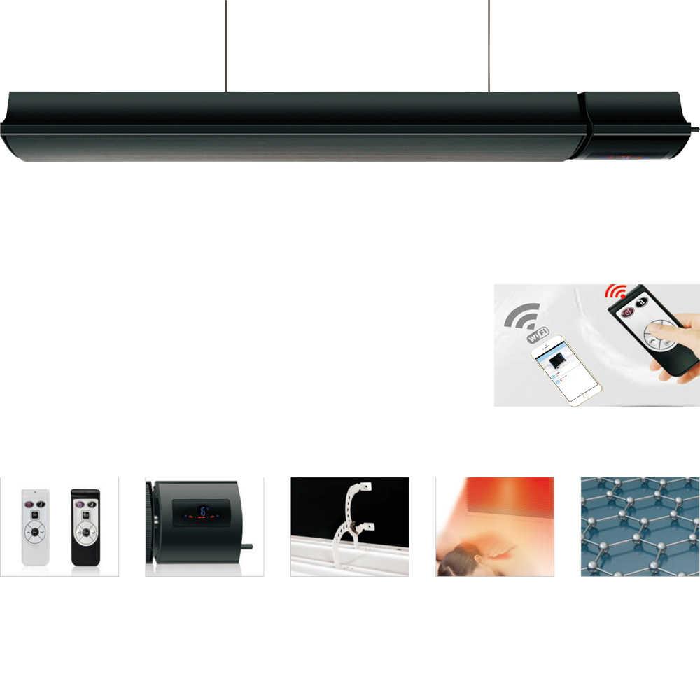 Горячая Распродажа Honyee инфракрасный лучистый Электрический нагреватель 1800 Вт водостойкий энергосберегающий для гостиной, отеля, йоги, улицы, сада,