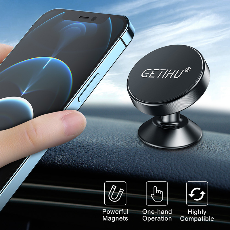 GETIHU Magnetic Car Phone Holder Magnet Mount Mobile Cell Phone Stand Telefon GPS Support For iPhone 13 12 Xiaomi Huawei Samsung