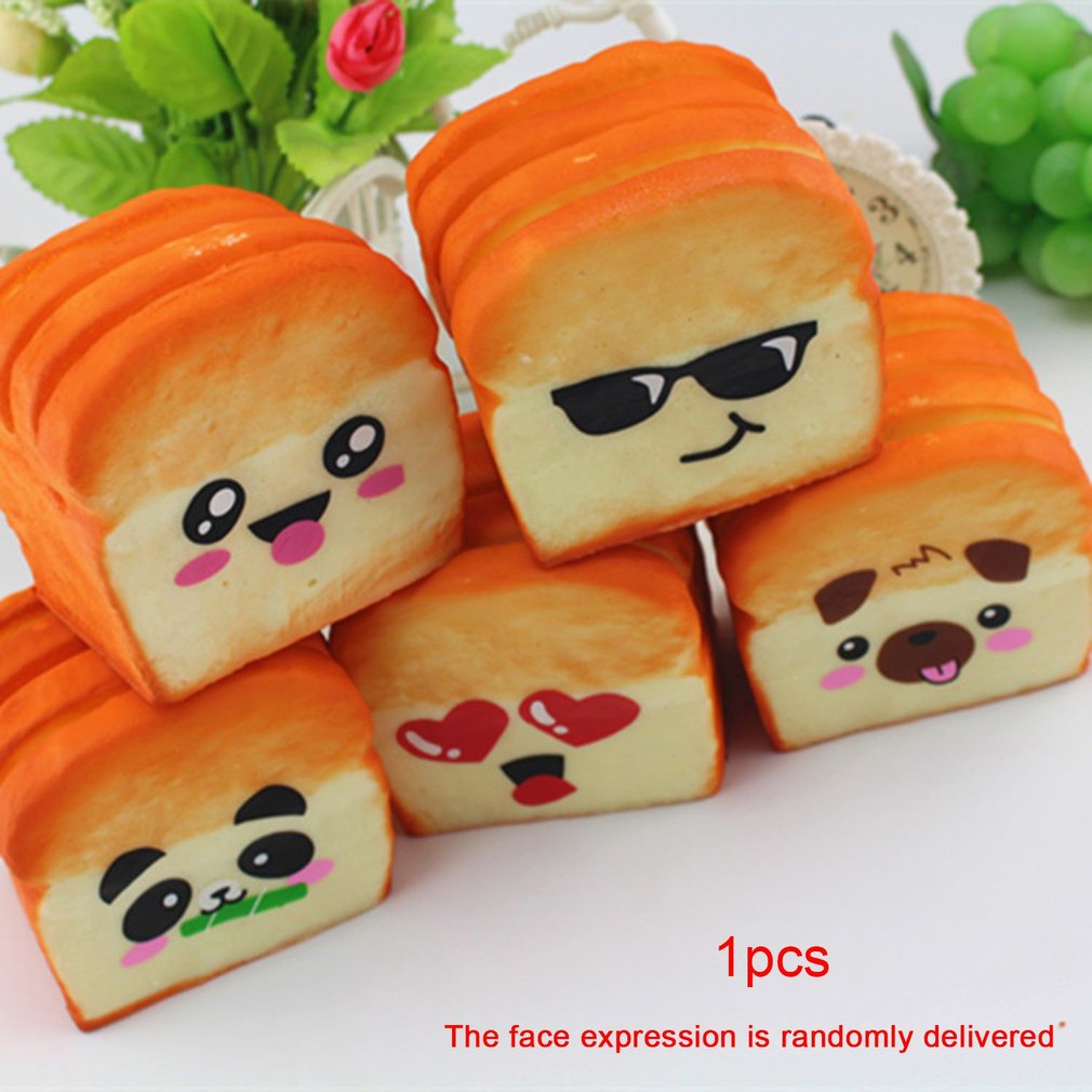Cute Toast Bread Soft Slow Rising Toys Squishy Toy Phone Straps Scented Squeeze Fun Decompression Kids Toy Stress Reliever Toys