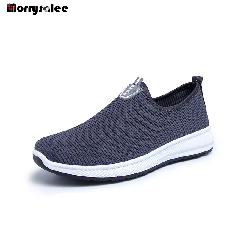 2020 Slip-On Lightweight Mesh Men Shoes Casual Breathable Comfortable Walking Male Sneakers Footwear  Men Shoes Unisex