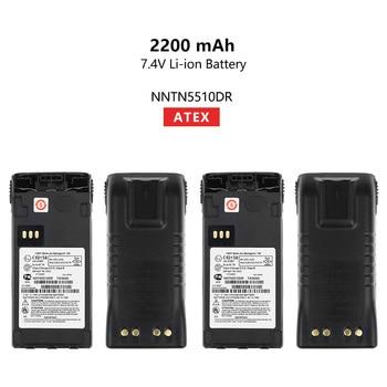 2 Pcs NNTN5510DR 2200mAh ATEX Replacement Li-ion Battery For Motorola GP329EX GP339EX PTX760EX GP340 GP380 GP580 GP680 Radios replacement 2200mah 3 7v li ion battery for leagoo lead1 green