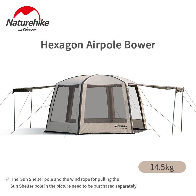 Naturehike шестигранный надувной тент 150D непромокаемый тент открытый пляжный воздушный полюс шатер для кемпинга навес с воздушным насосом для п...