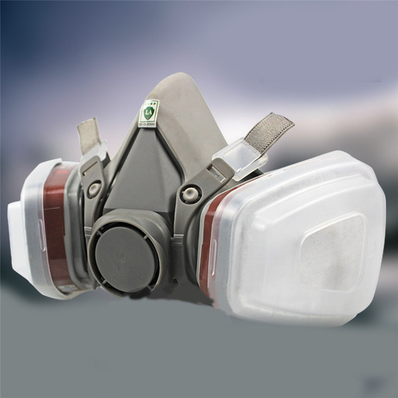 Chemical Mask 7 in1 6200 6001Type Industrial Half Face Painting Spraying Respirator Gas Mask Suit Safety Work Filter Dust Mask|Party Masks| |  - title=