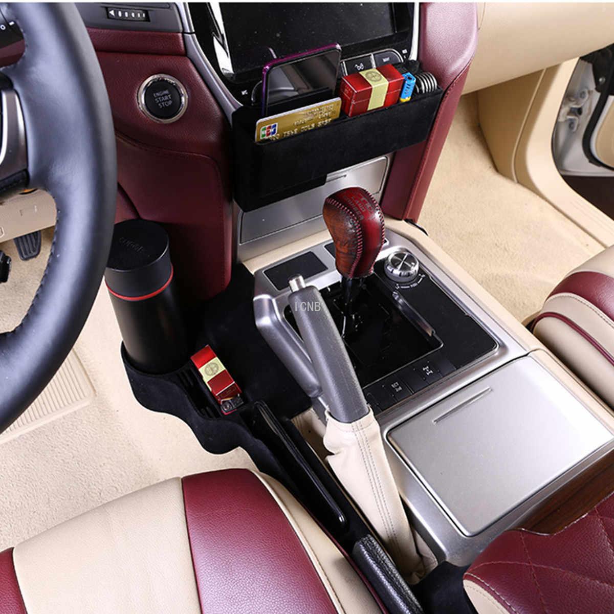 רכב מושב תיבת אחסון עבור טויוטה לנד קרוזר 200 LC200 FJ200 2016 2017 2018 2019 מחזיק כוס אביזרי