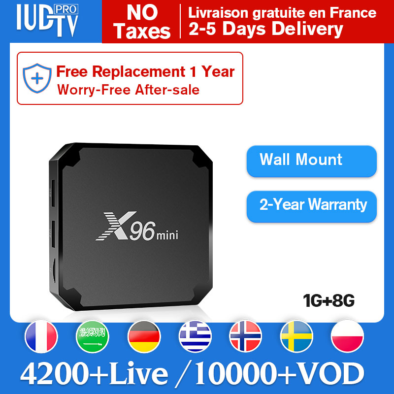 IPTV suède France X96mini Android smart top box avec Full HD en direct IUDPRO Code serveur Stable belgique royaume-uni espagne inde ip tv Europe