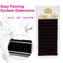 Easy fan eyelash extension volume 3d 4d 5d 6d free camellia fanning extensions black soft individual eyelashes