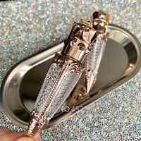4ml 10/30/50pcs di Plastica Tubo Lip Gloss, golden Scettro delle queen FAI DA TE Trasparente Vuota Liquido Rossetto Contenitore Ravanello Lipgloss Bottiglia