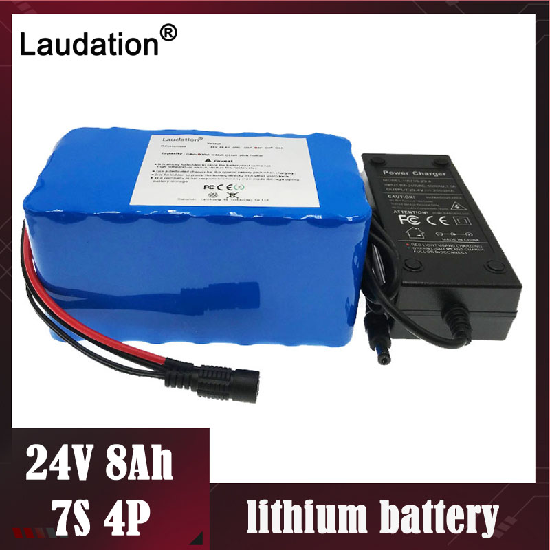 laudation <font><b>24V</b></font> <font><b>8ah</b></font> 10ah 24V12ah <font><b>Electric</b></font> <font><b>Bike</b></font> <font><b>Battery</b></font> 29.4V12ah 18650 case <font><b>Battery</b></font> for 250W 350W <font><b>electric</b></font> motorcycle with 15A BMS image