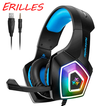 Hunterspider gaming headset, 3.5Mm stereo audio cable headset with microphone, color LED illuminated headset стоимость