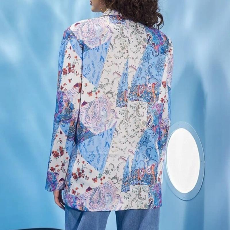 H3a39508b92ae46a99b5f62269d77a0d82 Fashion Trend Women Lapel Leopard Print Long Sleeves Suit Jacket Elegant Fall Winter Office Lady Cardigan Coat Casual Streetwear