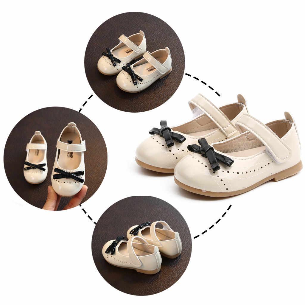 Zapatos para bebés niñas zapatos escolares princesa infantil Bowknot fiesta zapatos planos Sweet Spring Casual infantes niños niñas zapatos de cuero