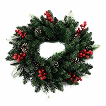 Door-Decoration Wreath Wall-Decor 40cm Artificial Natural with Pine-Cone Pendant Foam-Berry